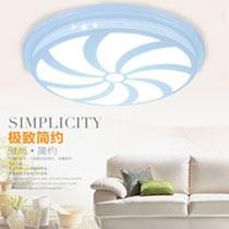 现代简约LED吸顶灯 亚克力镂空雕刻花纹圆形客厅卧室吸顶灯